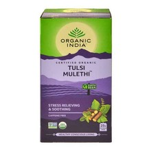 ORGANIC INDIA Tulsi Mulethi 25 Tea Bag - Stress Relieving & Soothing- Brand new - $7.54+