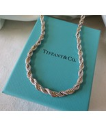 """Tiffany & Co. 18k Gold & Sterling Silver Rope Necklace~30""""~Box & Pouch~$... - $320.00"""