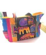 "Laurel Burch Bright Cat Tote Bag Fabric 17 x 10 x 4"" - $39.40"