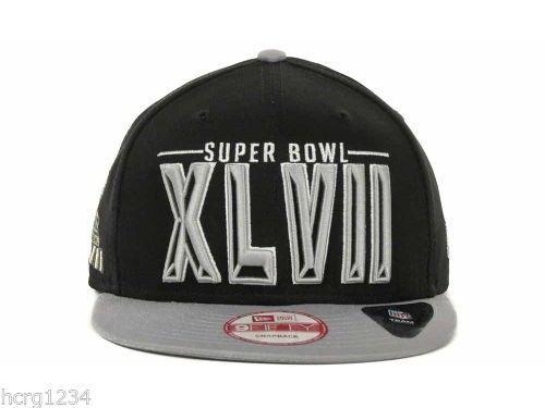 New Era 9Fifty New Orleans Super Bowl XLVII Snapback Cap Hat Black Gray