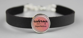 Embrace Imperfection Adjustable Leather Bracelet - $14.95