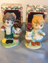 Set Of 2 Porcelain Boy And Girl Figurines - $5.94