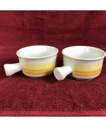 ABC DECORATOR COLLECTION BY DIANNE STRIPED SOUP BOWL WITH HANDLE SET OF 2 - $11.98