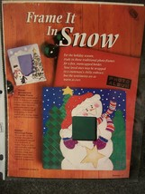 Painted Snowman Frame Craft Pattern - $2.24