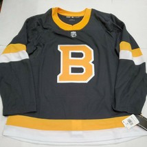 NWT Boston Bruins Adidas Authentic Alternate NHL Hockey Jersey Size 56 E... - $79.19
