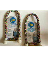 "Lot Of 2 JW Comfy Perch for Small Birds 21"" Toy Preening Rope - $19.79"