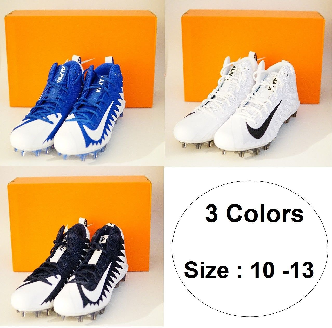 online retailer 25335 676f5 S l1600. S l1600. Previous. Nike Alpha Menace Pro Mid Football Cleats Many  Color difference size