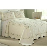 Modern Heirloom Felisa Embroidered Bedspread Ivory  Sz King - $108.67