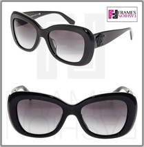 VERSACE 4317 Oval Sunglasses VE4317A Shiny Black Glitter Medusa Gradient Women - $222.75
