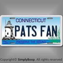 Connecticut  Pats Fan Patriots AFC NFL Football Team Vanity License Plat... - $12.82