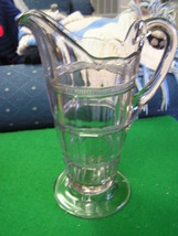 "Beautiful Vintage Clear Crystal 10"" PITCHER - $47.11"