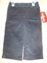 Size 24 Months Healthtex Solid Black Corduroy Dress Pants New - $12.00