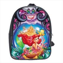School bag the little mermaid flounder ursula witch bookbag backpack 3 sizes - $38.00+