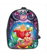 School bag the little mermaid flounder ursula witch bookbag backpack 3 s... - $38.00+