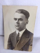 Vintage 1920's Photograph Man in Suit Studio 21264 - $9.81
