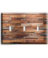 RUSTIC RANCH BARN RECLAIMED WOOD LIGHT SWITCH 3 GANG PLATES LOG CABIN RO... - $16.19