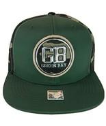 Green Bay Men's Patch Style Breathable Snapback Baseball Cap (Green/Camo) - $13.95