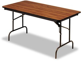 Folding Table Foldable Desk Home Office Furniture Rectangular Wood Lamin... - $310.90