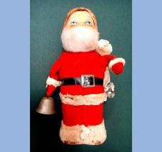 """vintage 7"""" KEY WIND SANTA CLAUS christmas DANCES,RINGS BELL - $67.95"""