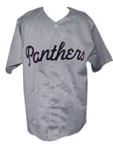 Washington Panthers Retro Baseball Jersey 1950 Button Down Grey Any Size image 4