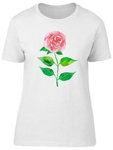 Pink Rose Hand Painted Women's Tee -Image by Shutterstock - $9.86+