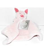 Baby Thro PARKER PIG PINK LOFT FLEECE SHORT NUNU THROW LOVEY Blanket NEW... - $29.69