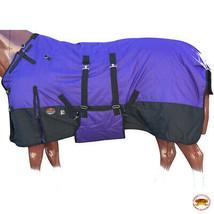"""78"""" Hilason 1200D Winter Waterproof Poly Horse Blanket Belly Wrap Purple U-L-78 - $84.99"""