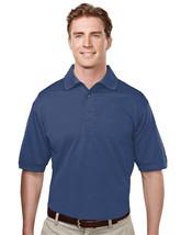 Tri-Mountain Odyssey 410 Basket Knit Golf Shirt - Navy - $23.45+