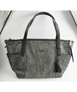 AUTHENTIC COLE HAAN BLACK SNAKESKIN EMBOSSED LEATHER SHOPPER TOTE HANDBA... - $175.00