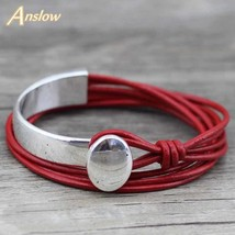 Anslow 2018 Classic Unisex Charm Vintage Style New Unique Silver Plated ... - $12.92