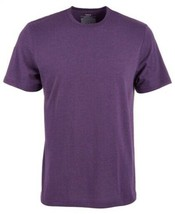 Alfani Men's Cotton Heather Crew neck Tshirt Purple; MEDIUM #599 - $19.99