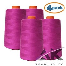 AK Trading 4-Pack HOT Pink All Purpose Sewing Thread Cones 6000 Yards Ea... - $23.85