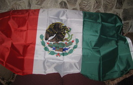 Flag 3X5 Mexico Mexican with Eagle eating Snake 3 foot by 5 foot - $7.90