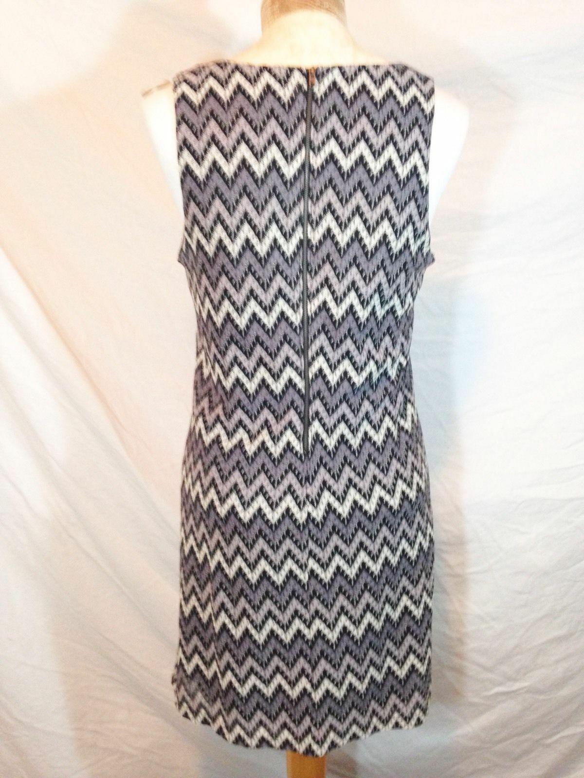 M/L Forever 21 Dress Gray Sleeveless Tank Bodycon Pencil Formal Zigzag Pattern