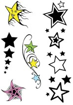 Stella Tema Tatuaggi. Temporaneo Adesivo Tatt , Accessorio Vestito, Lava... - £0.94 GBP