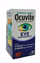 Bausch & Lomb Ocuvite Eye Vitamin Mineral Supplement 50 softgels Exp 02/... - $9.90