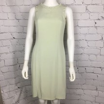Armani Collezioni Women's Dress 8 A-Line Green Sleeveless Acetate Silk - $68.26