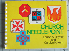 CHURCH NEEDLEPOINT PATTERNS INSTRUCTIONS Religious Cross Stitch By Rayno... - $7.50