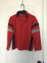 Izod Big Kids Fleece PullOver 1/4 Zip Shirt Sz L 14/16 OuterWear MultiColor - $45.90