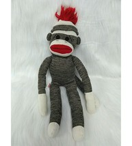 "18"" Schilling Sock Monkey Brown Red White Plush Toy Boy Girl B350 - $14.44"