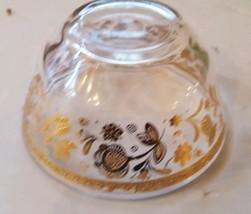 Vintage Culver Dessert Bowl Candy Dish Chantilly 22k Gold Signed Floral ... - $29.69