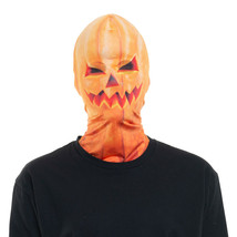Faux Real Evil Pumpkin Jack o Lantern Scary Mask Adult Halloween Costume... - $19.55 CAD