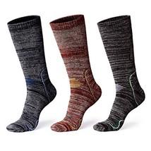 Anyou 3 Pairs Men's Crew Socks Outdoor Recreation Hiking Trekking Climbi... - $27.81