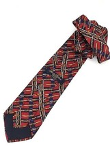 New Brooks Brothers Makers Silk Tie Red Gold Designer - $24.95