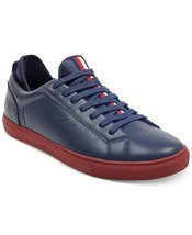 Tommy Hilfiger Men's Premium Leather Sport Sneakers Shoes McNeil Dark Blue
