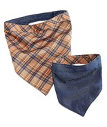 House of Barker Plaid/Denim Reversible Dog Bandana, Set of 2, Large - $18.90