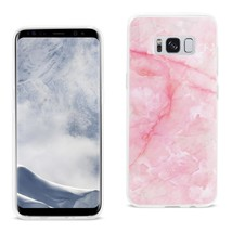 Reiko Samsung Galaxy S8 Edge/ S8 Plus Streak Marble Cover In Pink - $10.07