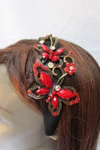 Cute Women Fashion Hair Headband Big Butterfly Bling Blue Red Gray Purpl... - €18,28 EUR