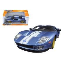 2005 Ford GT Blue 1/24 Diecast Model Car by Jada 97366AB-bl - $32.30