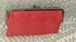 Hobo International Lauren Leather Clutch ~ CORAL - $125.59 CAD